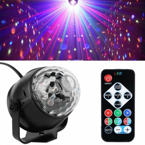 Disco Lichteffekt LED Discokugel DJ Party RGB Bühnenbeleuchtung Fernbedienung 3W