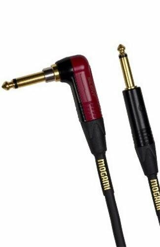 Mogami GOLD INST SILENT R 18 FT Right Angle Guitar Cable Right Angle Straight
