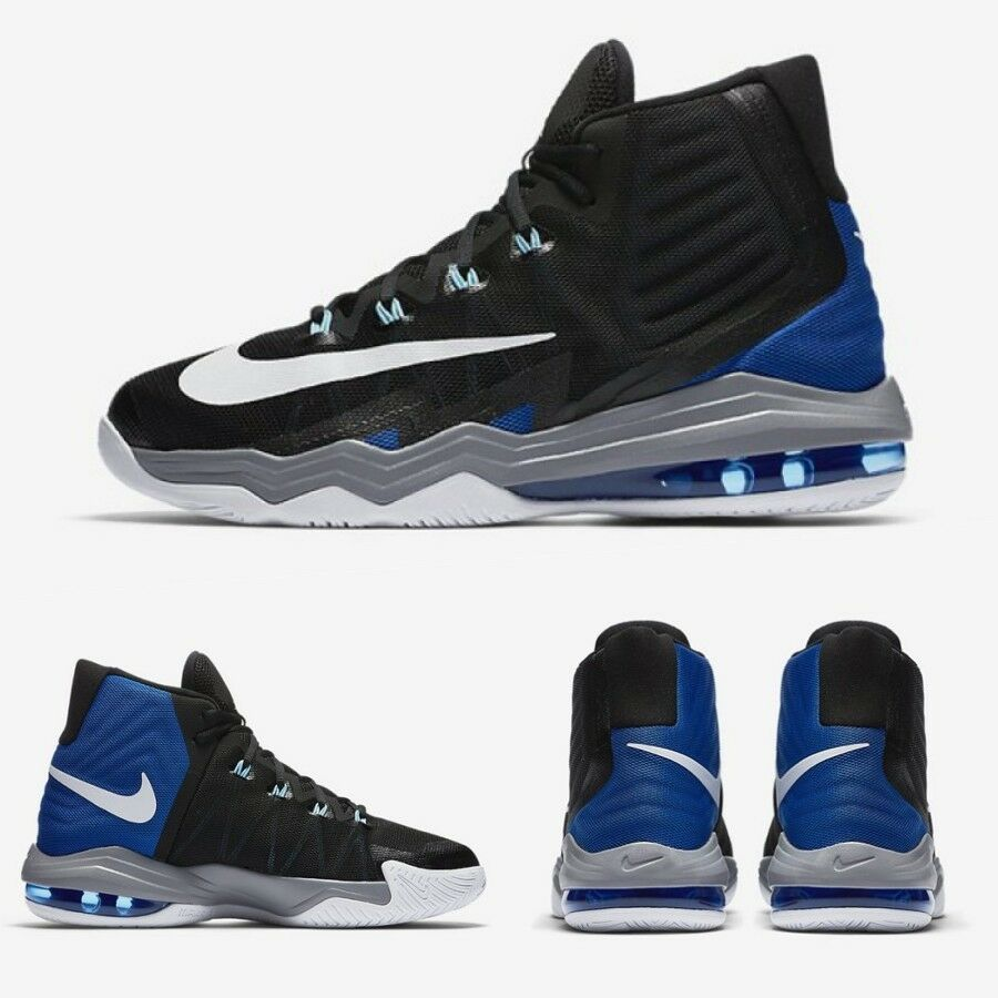 Nike Air Max Audacity Basketball shoes Sz 8-12 Black bluee 843884-005