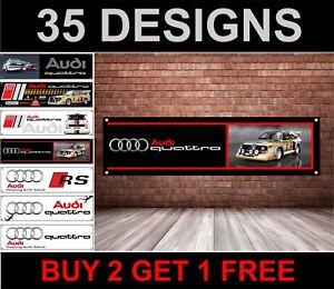 Audi-Quattro-Automobile-da-Rally-Banner-per-Officina-Garage-Gruppo-B-Hb
