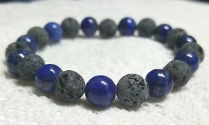 Lapis Lazuli lava bead essential oil bracelet