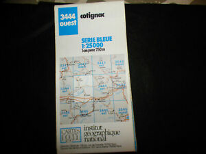 carte-IGN-bleue-3444-ouest-cotignac-1987