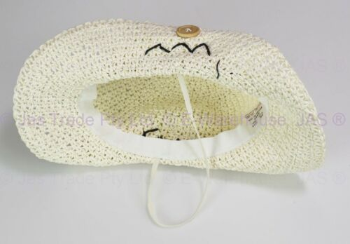 Baby Kid Toddler Girl Boy Faux Straw Western Cowboy Dance Party Costume Sun Hat
