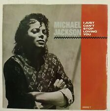 """Michael Jackson I Just Can't Stop Loving You Single 7"""" UK 1987"""