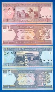 Afghanistan P-64 1 Afghanis Year 2002 Uncirculated Banknote Asia