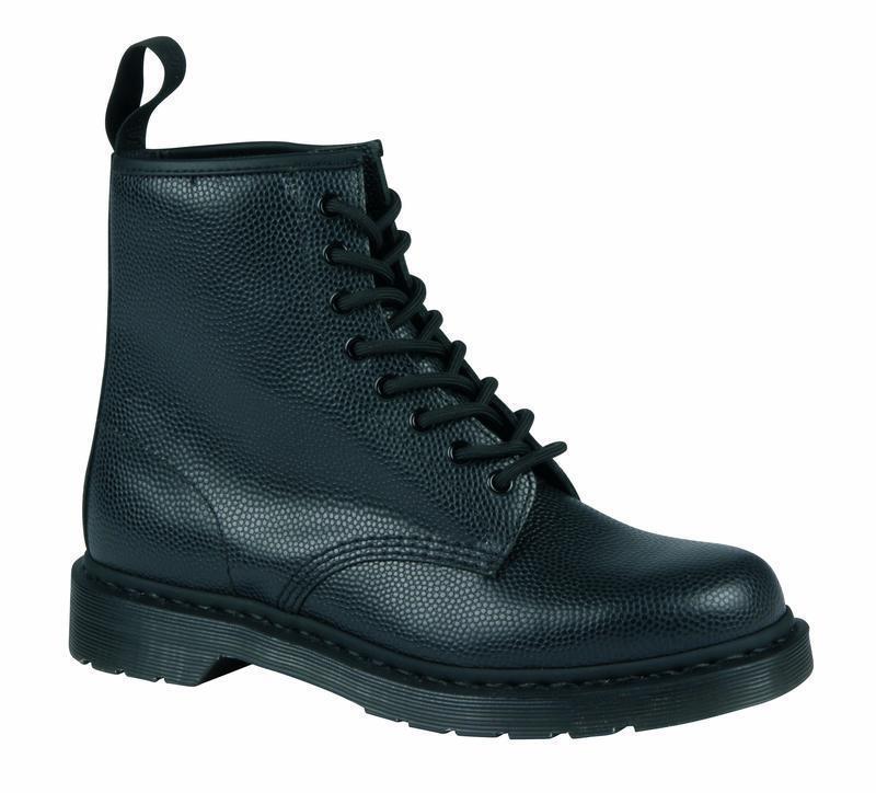 Grandes zapatos con descuento Dr Martens 8 Loch 1460 Black Pebble 21544001 Original Classic Doc