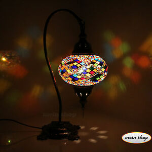 Mosaik Tischlampe Türkische Mosaiklampe Handgearbeitet Orientalische Lampe Rot