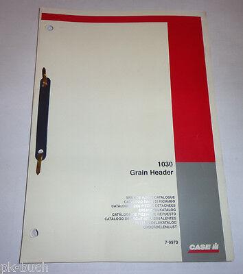 Farming & Agriculture Motors Disciplined Ersatzteillilse Parts Catalogue Case Ih Getreideschneidwerk 1030 Stand 01/2005 Good Reputation Over The World