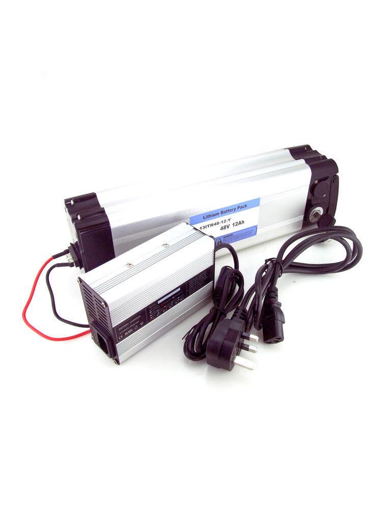 Lithium ionen batterie 48V 12ah silberner Fisch Fisch Fisch elektrisch Fahrrad Li-Ion Lipo aaf682