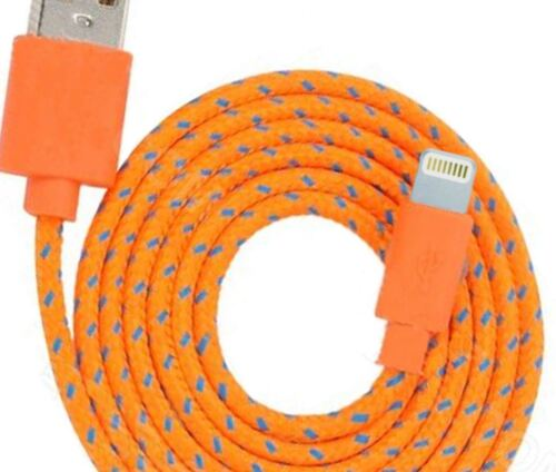 3FT Braided USB data power Charger Cable for iPhone X 8 7 plus 6 5s iPod 5 Nano