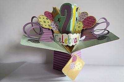 Cumpleaños Chica Zapatos Pop Up Tarjeta 3D esposa hija nieta amigo hermana 21