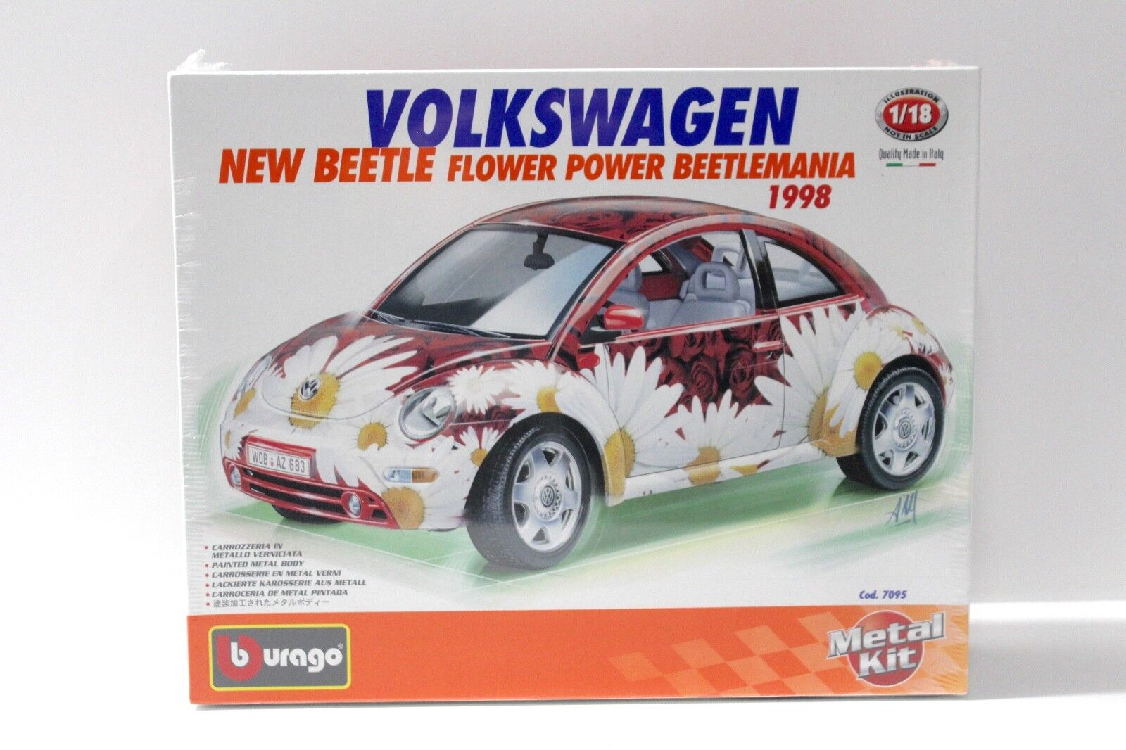 1 18 Bburago beetle Flower Power 1998 Kit Kit New chez Premium-modelcars