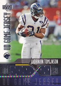 LADAINIAN-TOMLINSON-2004-UPPER-DECK-UD-GAME-JERSEY-LT-GJ-JERSEY-FB5903