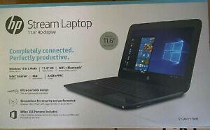 NEW-HP-11-ah117wm-Streambook-11-6-034-HD-N4000-4GB-RAM-32GB-eMMC-Windows-10-Black