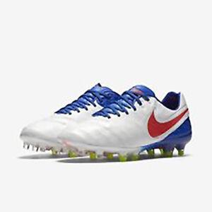 outlet store d382d dca79 Details about Nike Women's Tiempo Rio III FG Soccer Cleats 819258 164  White/Crimson/Blue Sz 9