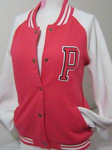 e5b2a8bc48af8 Details about Victoria Secret Pink Letterman VARSITY JACKET BOMBER COAT  SWEATSHIRT S no hoodie