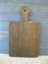 "Vintage Bread Board Primitive Country 12-1/2"" x 7-3/8"" Oak Wood, Cutting Dough"