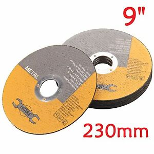 10-Pack-Of-Metal-Cutting-Discs-230mm-9-034-thin-Stainless-Steel-Angle-Grinder-Cut