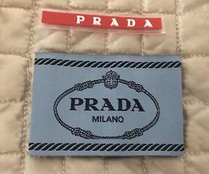Original Prada Label Set De Rechange Etiquette Pour Shirt Pull Veste Robe Manteau-afficher Le Titre D'origine