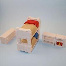 LEGO Furniture: Bunk Bed Bedroom Collection w/ Dresser & More!  [custom,set,lot]