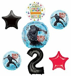 Black-Panther-Party-Supplies-2nd-Birthday-Balloon-Bouquet-Decorations
