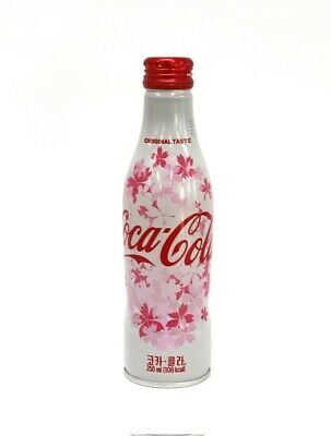2018 Special Edition KOREA Bottle Coca Cola Cherry Blossoms Sakura
