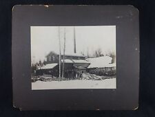 Lg. Original Photo Valentines Day 1904 Cecil Bay Michigan Saw Mill Emmet County