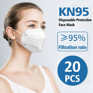 20pcs KN95 k-n95 Protective Face Mask CE Certified GB32610-2016 20 mask Standard