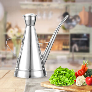 1000ML Oil Pot Jar Bottle Can Stainless Steel Drip Free Olive Container Kitchen