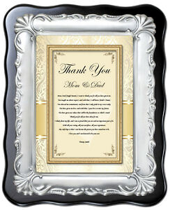 Parents Thank You Wedding Gift Poem Plaque from Bride Groom Inlaws ...