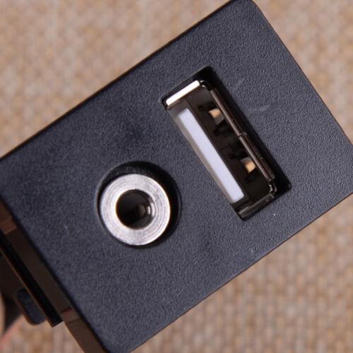 USB AUX KFZ Einbau Buchse Klinke Adapter Kabel 3.5mm Verlängerung Anschluss