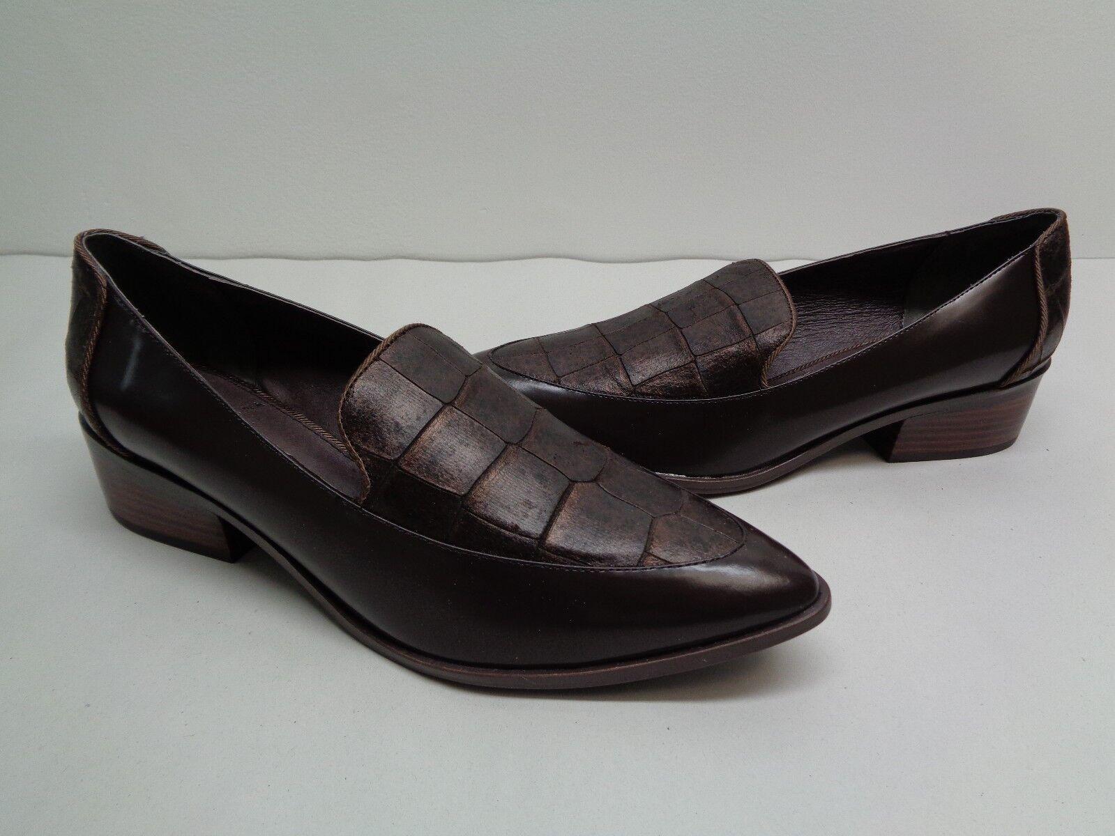 Adrianna Papell Größe 7.5 M KANE Braun Leder Loafers Oxfords NEU Damenschuhe Schuhes