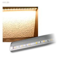Lichtleiste / LED Unterbauleuchte 230V Touch-Schalter Alu gebürstet Küchenlampe
