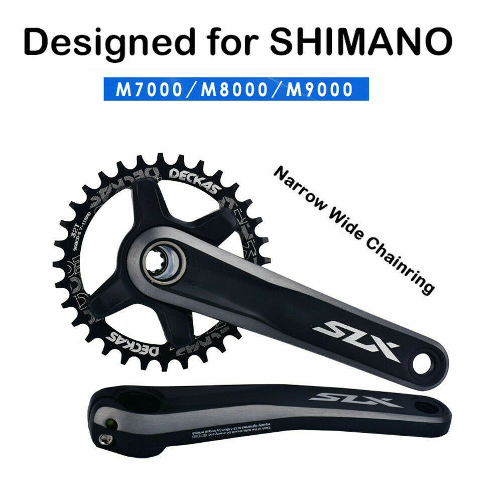 DECKAS 96BCD-S Round//Oval MTB Narrow Wide Chainring 32//34//36//38T Bike Chainwheel
