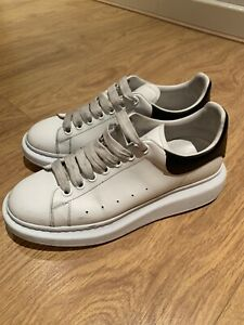 white lace up trainers pumps UK size