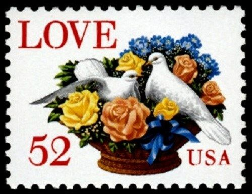 1994 52c Love & Dove Scott 2815 Mint F/VF NH