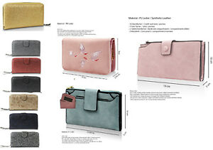 Glamexx24 Damen Geldb/örse schick Damenportemonnaie mit Clippverschluss Brieftasche Geldbeutel