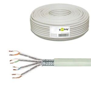 50m-0-3-m-CAT6-SFTP-PiMF-doppelt-geschirmt-Kabel-Netzwerk-Patchkabel-LAN-Litze