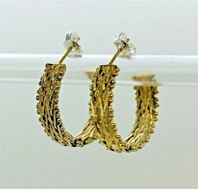 Sterling Silver Snowflake Earrings Handmade by Chris Hay