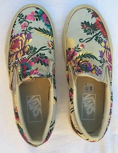 Vans-Festival-Satin-Slip-On-Silk-Brocade-Sneakers-Shoes-Size-Women-5-5