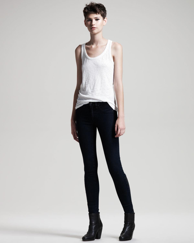 New Rag  & Bone Women's Dark Indigo Devi Denim Leggings Jeans Size 30