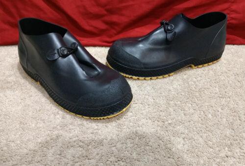 Servus Black Rubber Work Overshoes//Galoshes-Flexible//Waterproof-Mens 6-8 /& 14//15