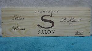 SALON CHAMPAGNE BLANC DE BLANCS LE MESNIL WOOD WINE PANEL END | eBay