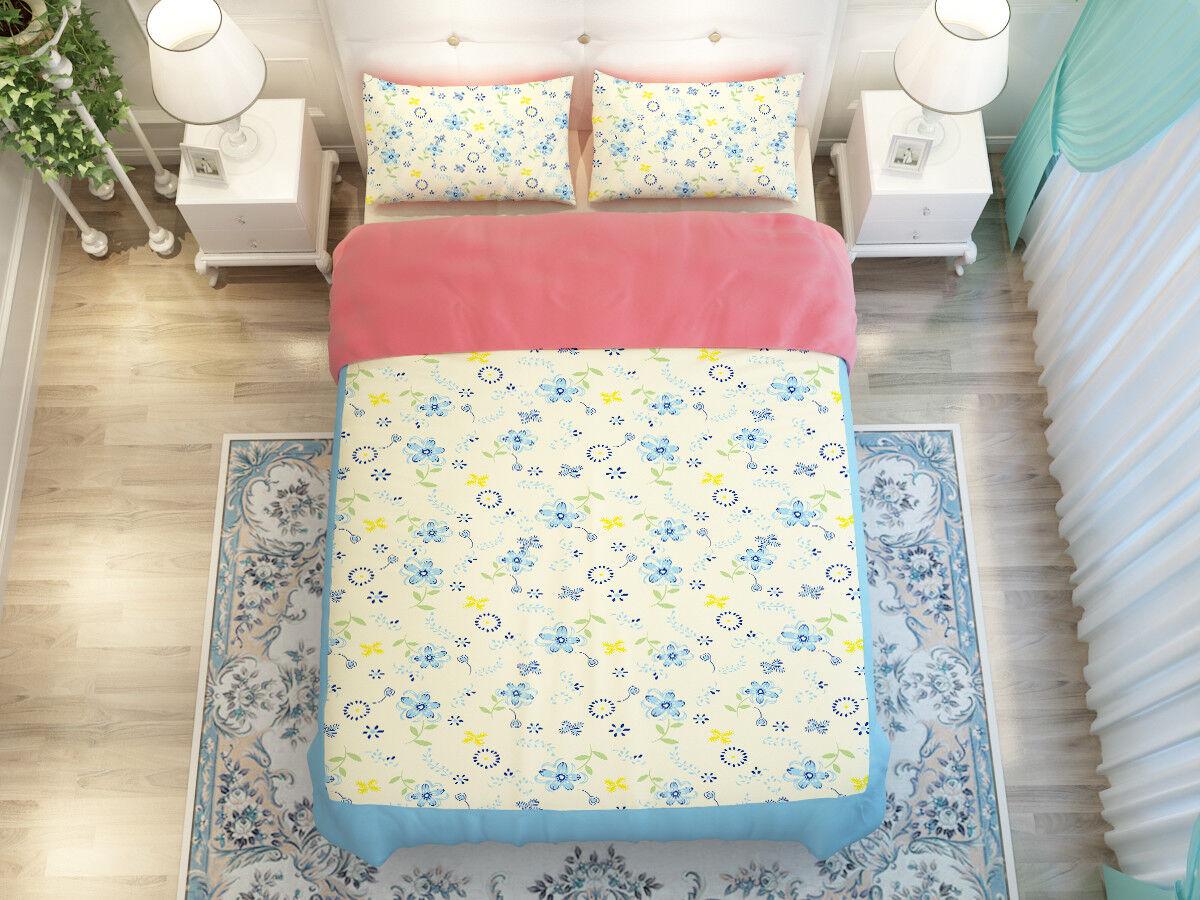 3D blu Art Pattern 8 Bed Pillowcases Quilt Duvet Cover Set Single Queen King CA