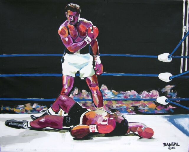 Muhammad Ali Original Art PAINTING Artist DAN BYL Famous Celebrity Huge 4x5ft