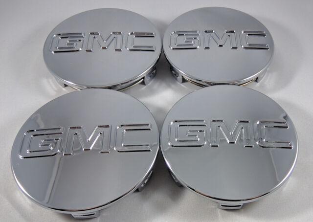 """Set of 4x GMC Chrome Center Wheel Center Caps Sierra Denali Yukon 83MM 3.25"""""""