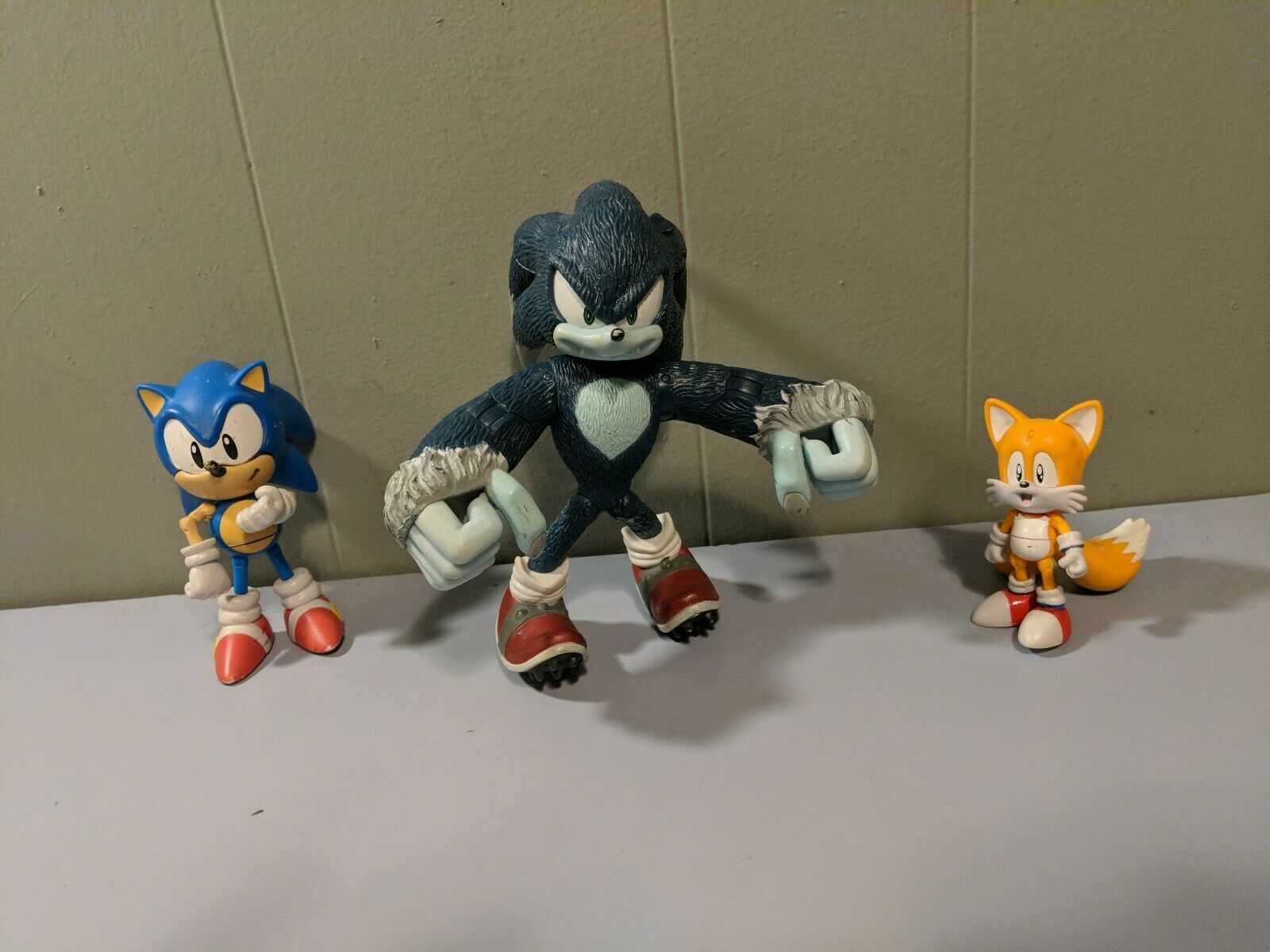 Sega 4  Sonic The Hedgehog  6  Werehog  3  Tails Jazwares Wirkung figures Masse EUC