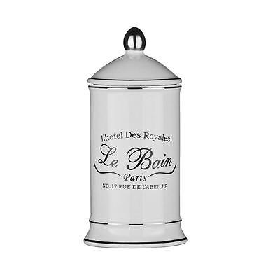 Shabby Chic Le Bain White Ceramic Bathroom Accessories Set Brand New