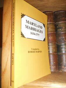 Maryland-Marriages-1634-1777-Genealogy-Book-New