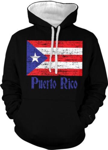 Puerto Rico Flag Text Puerto Rican Pride Bandera Boricua 2-tone Hoodie Pullover